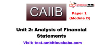 Analysis of Financial Statements: Caiib