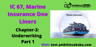 underwriting- IC 67- marine -insurance -one -liner