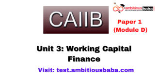 Working Capital Finance: Caiib