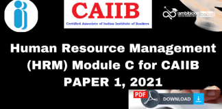 Human Resource Management (HRM) Module C for CAIIB : Edition 2021