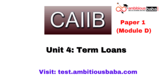 Term Loans: Caiib