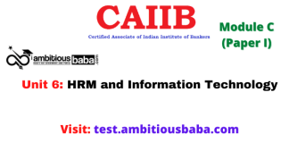 HRM and Information Technology: Caiib