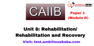 Rehabilitation/ Rehabilitation and Recovery: CAIIB