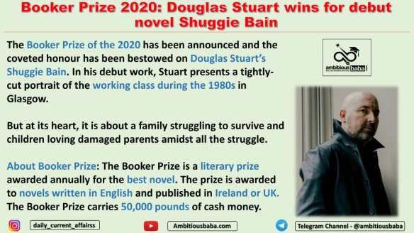 Booker Prize 2020: Douglas Stuart wins for debut novel Shuggie Bain