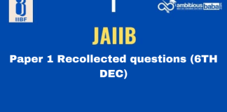 JAIIB paper 1 Recollected questions : 6th Dec 2020