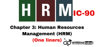PARA 13.2|IC 90, HRM One Liner|Chapter-3 | Human Resources Management (HRM)
