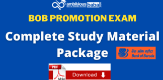 BOB Promotional Exam (clerical to officer) 2020: Complete Study Material Package