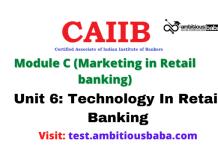 Technology In Retail Banking: CAIIB Retail banking