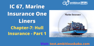 Hull Insurance - Part 1, IC 67, Marine Insurance