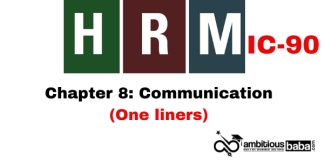 PARA 13.2 HRM (IC90) One Liner: Communication (Chapter 8)