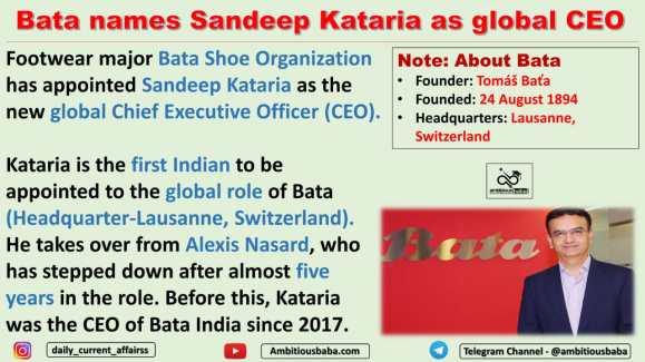Bata names Sandeep Kataria as global CEO