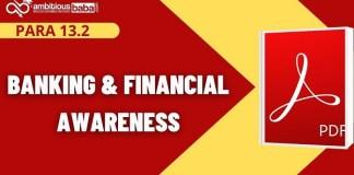 Para 13.2 Financial Awanress