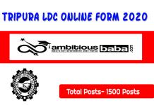 DESMP Tripura for LDC Recruitment 2020 : 1500 Post check here
