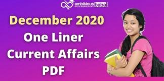 December one liner current affairs pdf 2020