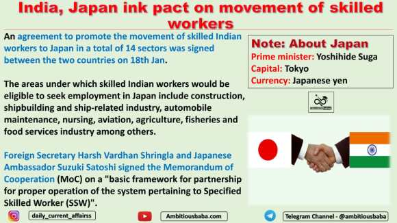 India, Japan ink pact on movement of skilled workers