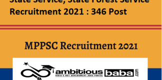 MPPSC for State Service, State Forest Service Recruitment 2020 : 346 Post check here