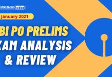 SBI PO Pre exam Analysis