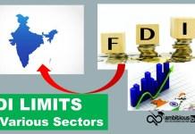 FDI Limits in Various Sectors