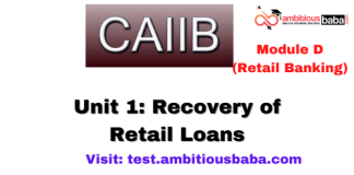 Recovery of Retail Loans : CAIIB Retail banking (Module D),Unit 1