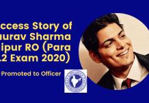 Success Story of Gaurav Sharma Jaipur RO (Para 13.2 Exam 2020)