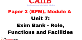 Exim Bank - Role, Functions and Facilities: CAIIB