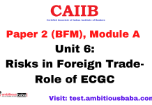 Risks in Foreign Trade-Role of ECGC: CAIIB