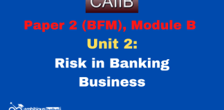Risk in Banking Business: CAIIB