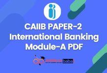 CAIIB Paper-2 Module-A PDF - Ambitious Baba