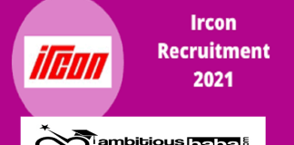 IRCON Recruitment 2021 : 74 Post for Work Engineer