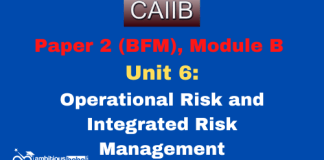 Operational Risk and Integrated Risk Management: CAIIB