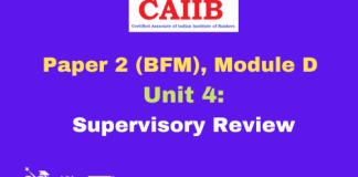 Supervisory Review: CAIIB