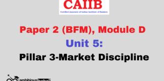 Pillar 3-Market Discipline: CAIIB