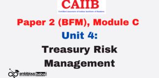 Treasury Risk Management: CAIIB
