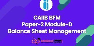 CAIIB Paper-2 Module D