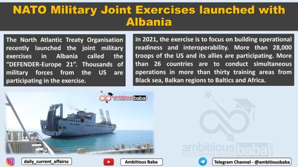 NATO Military Joint Exercises launched with Albania