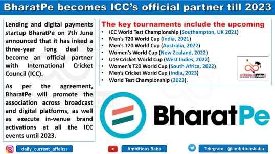 BharatPe becomes ICC's official partner till 2023