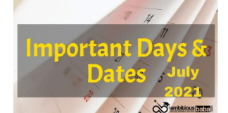 Important National and International Days in July 2021