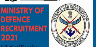 Ministry of Defence Recruitment 2021 : 458 Post for Tradesman Mate, JOA, MA
