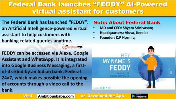 """Federal Bank launches """"FEDDY"""" AI-Powered virtual assistant for customers"""