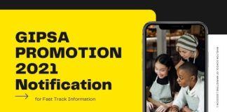 GIPSA PROMOTION 2021 Notification