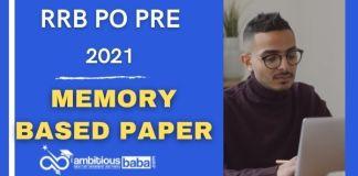 RRB PO Prelims Memory Based Paper