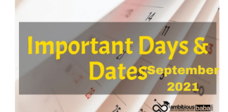 Important National and International Days in September 2021