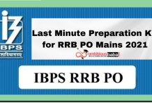 Last Minute Preparation Kit for RRB PO Mains 2021