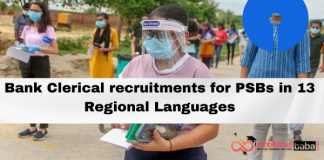 Bank Clerical recruitments for PSBs in 13 Regional Languages