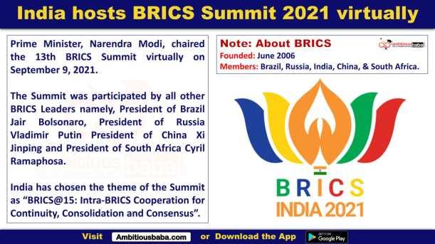 India hosts BRICS Summit 2021 virtually
