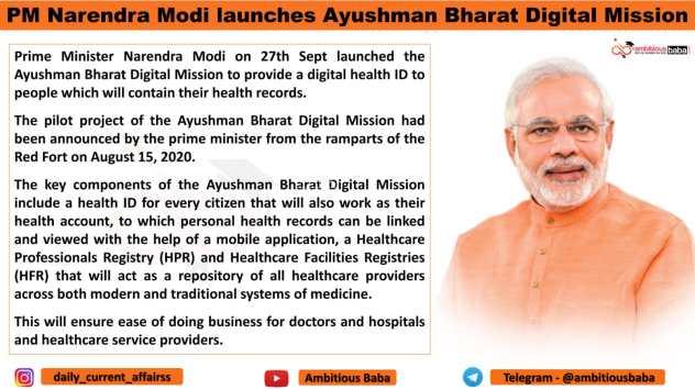 PM Narendra Modi launches Ayushman Bharat Digital Mission