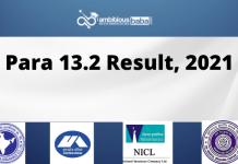 Para 13.2 Result 2021 Released : Download List