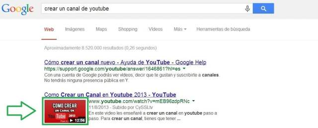 Miniatura en youtube