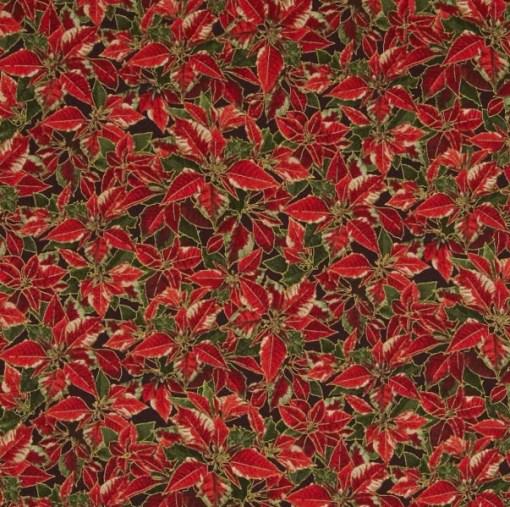 Yuletide Magic Metaillic Detail Poinsettias by Painbrush Studio