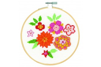 Japanese Flowers – Counted Cross Stitch Kit DMC